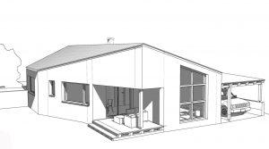 eingeschoßiges Einfamilienhaus