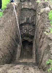 Bodenuntersuchungen mittels Baggerschürfen