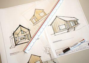 Haus bauen Ideen Skizzen